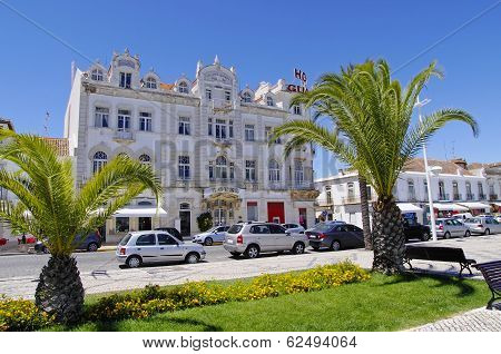 Hotel In Tenement House, On The Coastal Street In Vila Real De Santo Antonio, Algarve, Portugal