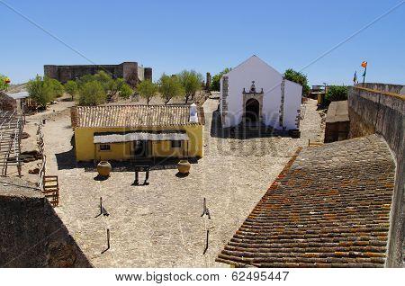 Castle Castelo De Castro Marim In Portugal.