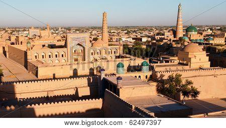 Evening View Of Khiva (chiva, Heva, Xiva, Chiwa, Khiveh) - Xorazm Province - Uzbekistan - Town On Th