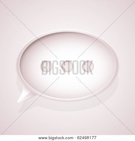 Pink speech bubble