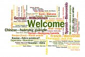 stock photo of malay  - Welcome phrase in 78 different languages - JPG
