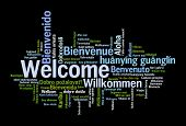 foto of hebrew  - Welcome phrase in 78 different languages - JPG
