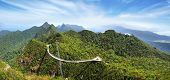 stock photo of langkawi  - Sky bridge on the mountain - JPG