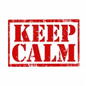 Keep Calm-stamp poster