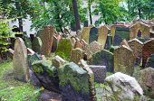 image of rabbi  - The Old Jewish Cemetery in Prague Czech Republic where many notable Jewish leaders are buried including Rabbi Judah Loew The Maharal - JPG
