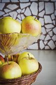 Apples In A Glass Vase