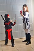 picture of purim  - Two Israeli siblings - JPG