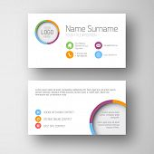 stock photo of placeholder  - Modern simple white  business card template with some placeholder - JPG