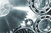 ball-bearings and gears, titanium and steel engineering parts