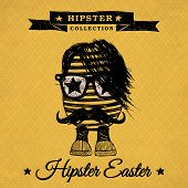stock photo of rhombus  - Hipster Easter  - JPG