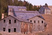 stock photo of ore lead  - Mill built in 1927 to process ore could handle 200 tons per day - JPG