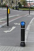 image of segregation  - Bicycle lane and segregated bike path in London - JPG