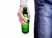 Person Holding Beer Bottle