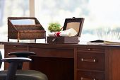 pic of keepsake  - Documents And Letters In Keepsake Box On Desk - JPG