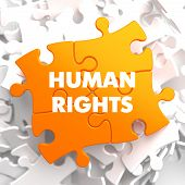 Human Rights on Orange Puzzle.