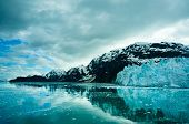 picture of arctic landscape  - Glacier Bay in Mountains in Alaska United States - JPG