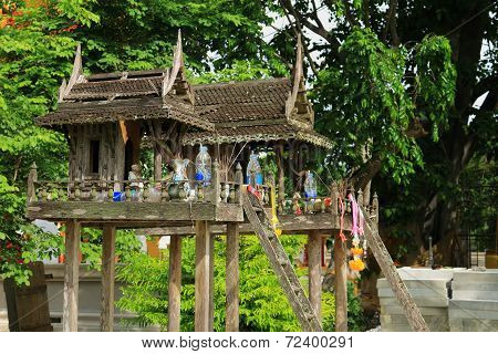 old wood shrine