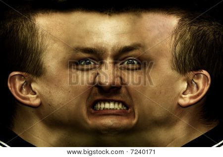Schizophrenia. Panorama Face