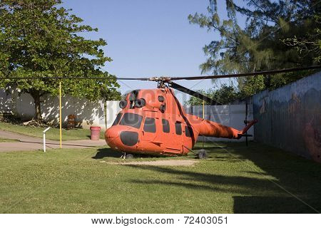 Helicopter At Arecibo Lighthouse And Historical Park