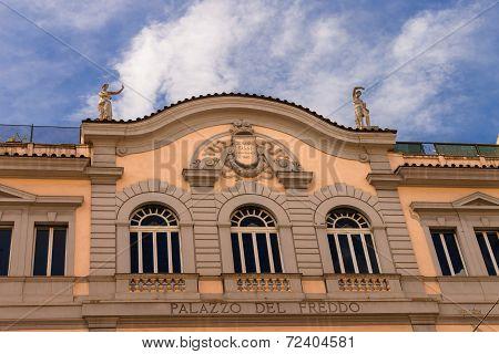 The Building Of Palazzo Del Freddo - Famous Italian Ice Cream Shop