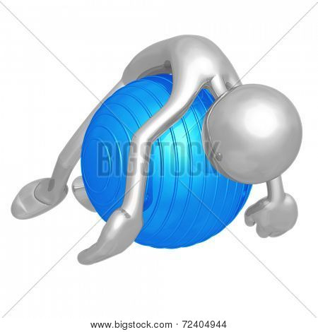 Yoga Pilates Physio Ball Exhaustion