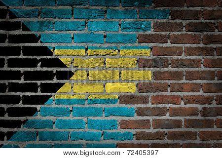 Dark Brick Wall - Bahamas
