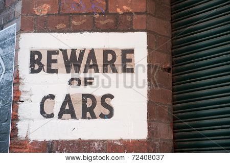 Beware Of Cars