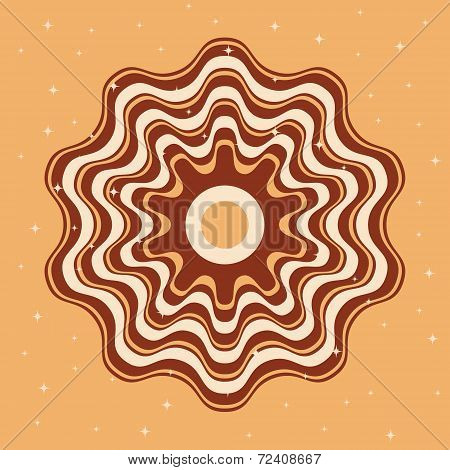 Background cappuccino Vector background Template for design