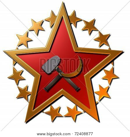 Russian Star - (hammer and sickle)