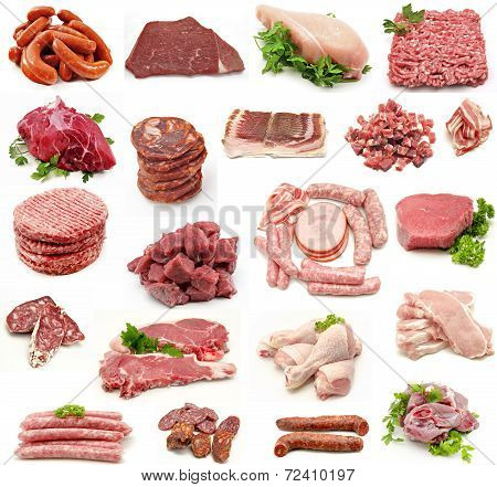 Collage Of Meat