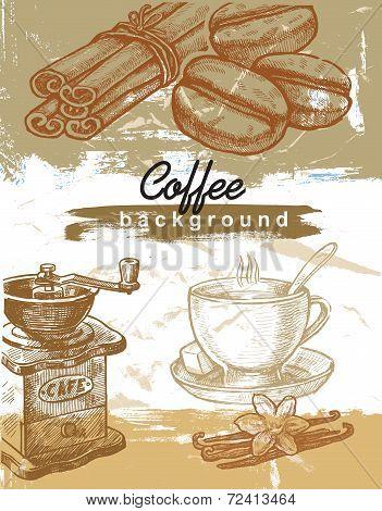 hand drawn coffee
