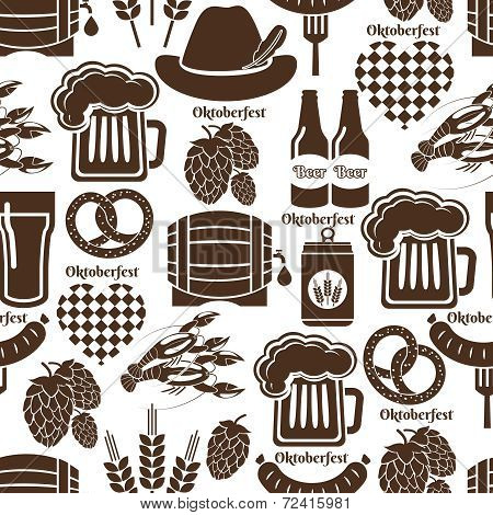 Oktoberfest seamless background pattern