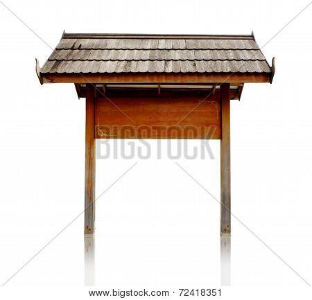 Wood Notice Board