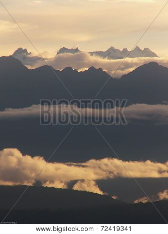 Stack Of Mountains And Clouds Landscape