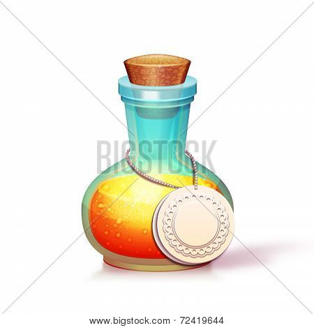 Vector illustration of glass flask with potion