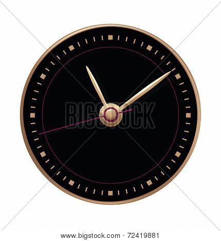 Clock On White Background. Vector Illustration