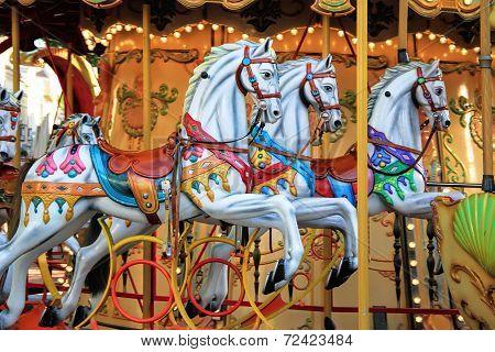 Carousel In Avignon, France