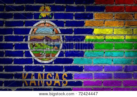 Dark Brick Wall - Lgbt Rights - Kansas