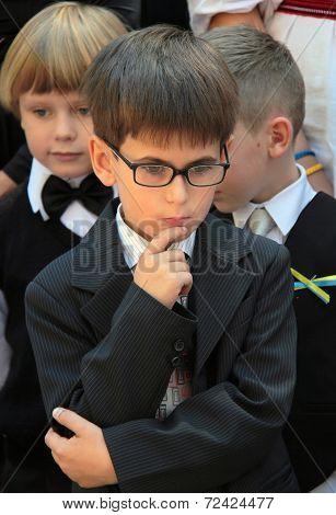 Schoolboy In Glasses