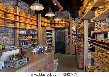 Amsterdam - Shelves Of Dutch Cheese