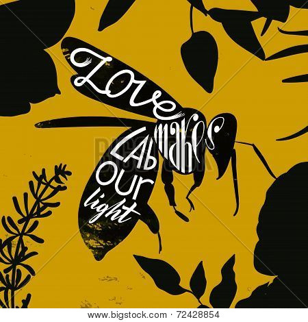 Love makes labor light. Proverb about the work. Quote.
