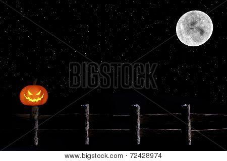Dark Jack O'Lantern & Moon Scene