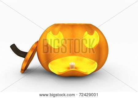 Jack O'Lantern with Top Off