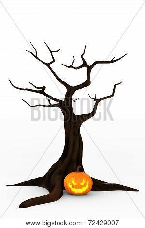 Jack O'Lantern & Spooky Tree
