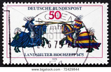 Postage Stamp Germany 1975 Jousting