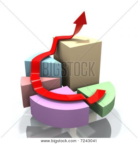 3D Pie Chart With Arrow