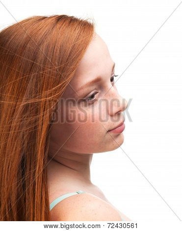 Profile Of A Young Red-haired Girl