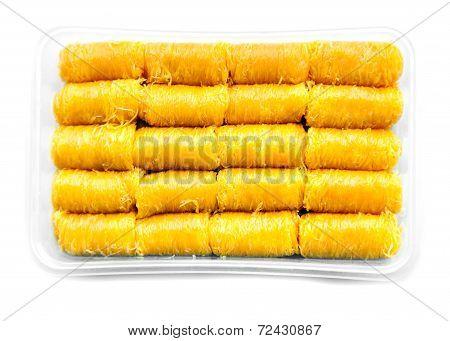 Gold Egg Yolks Thread Dessert  Call Foi Thong In Thai In Pack