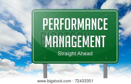 Performance Management on Highway Signpost.