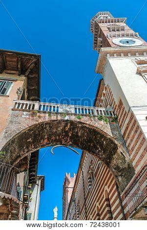 Torre Dei Lamberti in Verona Italy